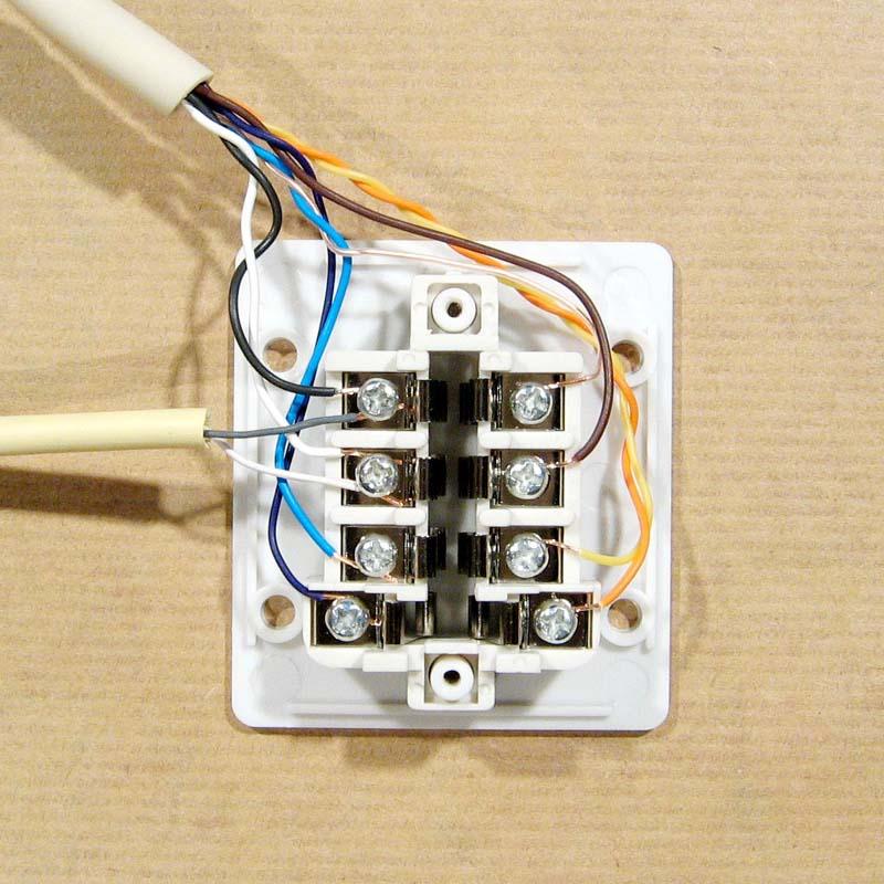 Câbler une prise de téléphone en T