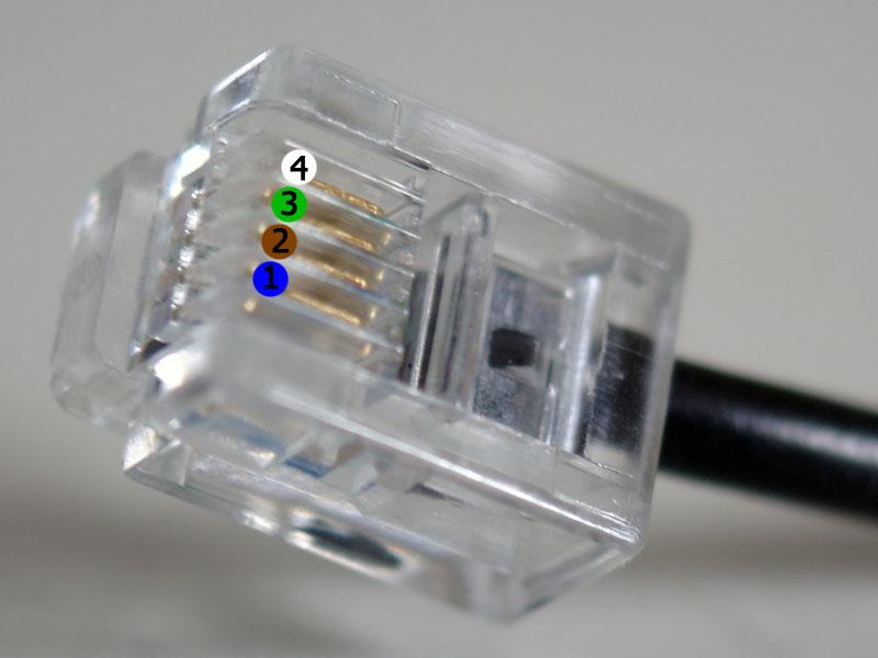 Cablage d'une prise de téléphone RJ11